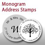 Monogram Address Stamps